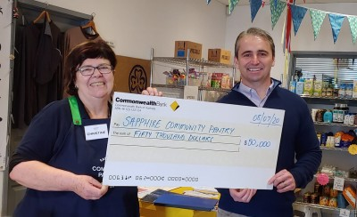 Christine Welsh SapphireCommunityPantry donationfromCommbank 090720